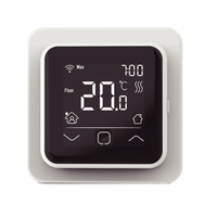 Digitale WiFi Klokthermostaat C16-thermostaat (inbouw) | RAL 9010 Wit